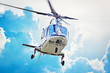 Leinwandbild Motiv VIP Hubschrauber im Anflug