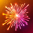 Bright neon vector firework