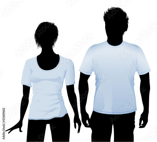 T-shirt and polo shirt design template. with black body