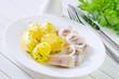 potato and herring