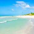 Turquoise waves on the beautiful Varadero beach in Cuba