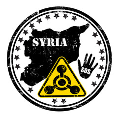 Distressed Syria Chemical Weapon stamp