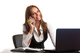 The boss - Preety business secretarry woman working in office is