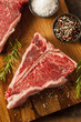 Thick Raw T-Bone Steak