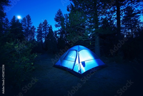 Papiers peints Camping Forest Camping - Tent