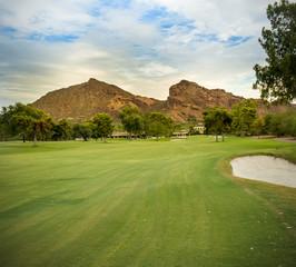 Golf course in Scottsdale, AZ Camelback Mountain