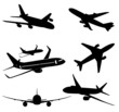 Vector airplanes isolated