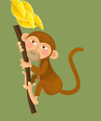 Cartoon ape - monkey - illustration for the children