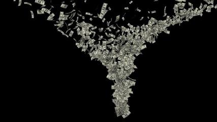 US Dollar Tornado, Luma Matte
