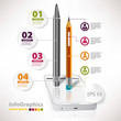 Modern vector elements for infographics with white smartphone an