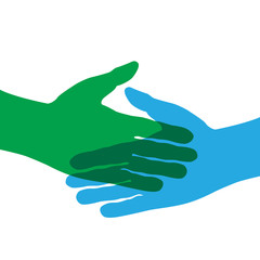 Vector logo teamwork, handshake