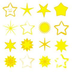 Set mit 16 gelben Sternen