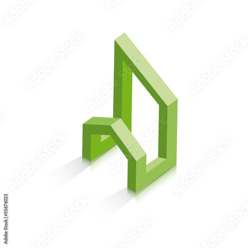 Vector 	Logo property developer, house and city