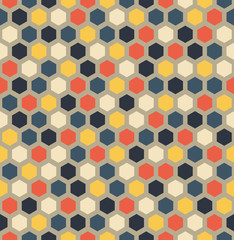 Hexagon Geometric Seamless Pattern