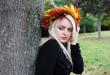 Herbst Prinzessin am Baum