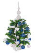 Christmas fir tree decorated with Christmas balls, snowflakes, c