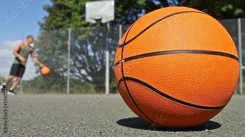 Basketball Player Practicing