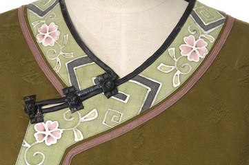 Chinese style, focus on the cheongsam button