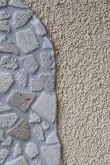 Mosaik an Hauswand