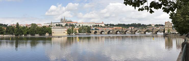 Charles Bridge (medieval bridge in Prague on the River Vltava).