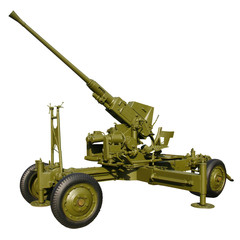 old automatic anti-aircraft gun