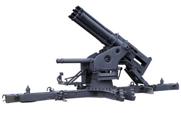 multi-barreled anti-aircraft gun
