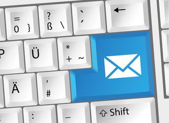 Kontakt E-Mail Brief Tastatur deutsch