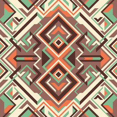 Arabesque with geometric shapes.