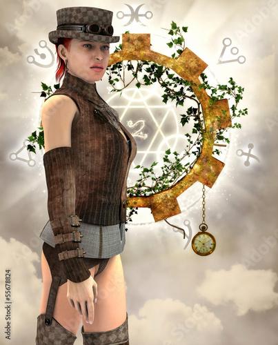 Steampunk Frau mit Strapse