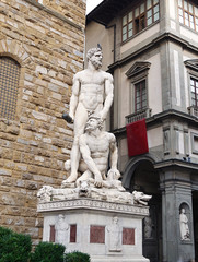 Hercules and Cacus statue in Florence, Italy
