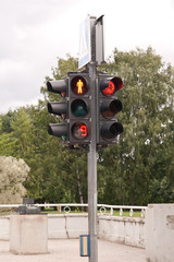 Timed traffic lights