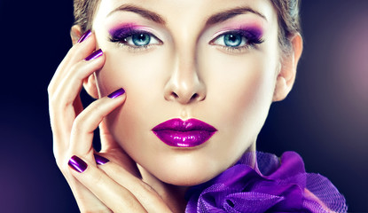 beautiful model with fashion make-up