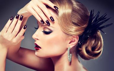 beautiful model with fashion make-up