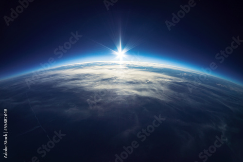 Tuinposter Luchtfoto Near Space photography - 20km above ground / real photo