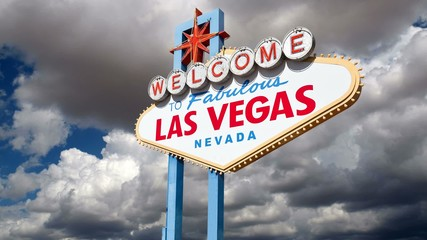 Las Vegas Sign Moving Clouds