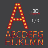 1-3 Set of Broadway Vector Alphabet A-N Editable