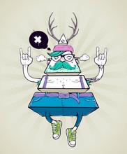 Triangle hipster bizarre Charakter