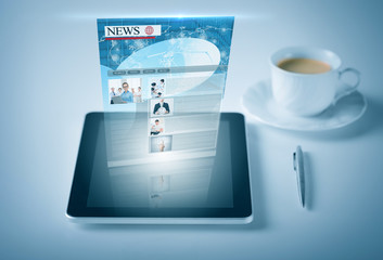 tablet pc with news feed