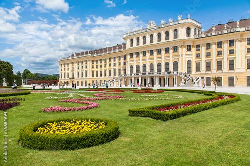 Famous Schloss Schönbrunn in Vienna, Austria