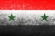 syria flag with war symbols