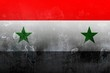 Syria flag dark illustration