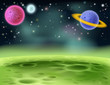 Outer Space Cartoon Background