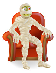 Halloween Mummy in Chair