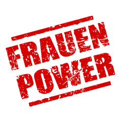 stempel eckig frauenpower I