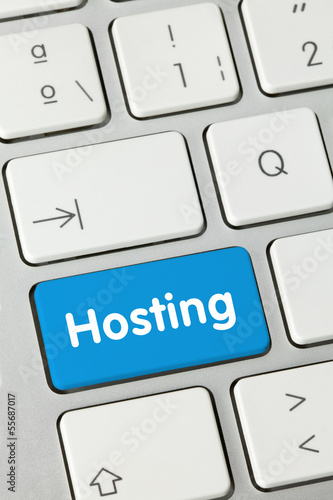 canvas print picture Hosting keyboard key