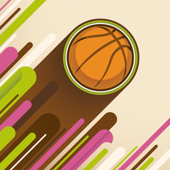 Modern basketball illustration.