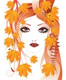 podzimní květinové dívka