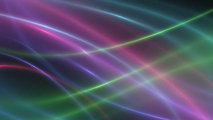 Светящиеся цветные линии