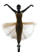 Kobieta tancerz taniec balet sylwetka