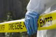 Leinwanddruck Bild - Crime Scene Investigation